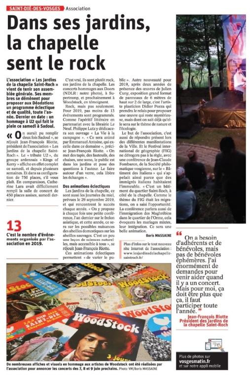 Rock dans Les jardins de La Chapelle Saint Roch