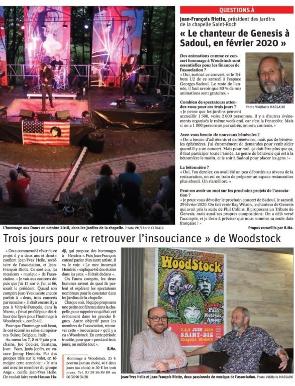 Rock & Woodstock dans Les jardins de La Chapelle Saint Roch